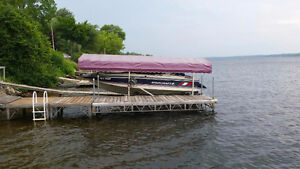 Cantilever Aluminum Boat Lift with Cover