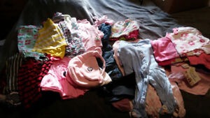 Baby Girl Clothing Lot newborn to 9 months