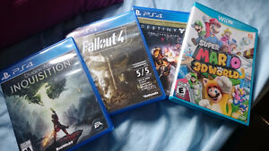 PS4 games (and a single WiiU game)