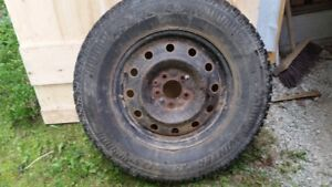 4 Winter Tires on Steel Rims for Sale