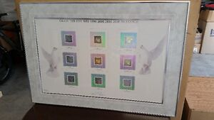1999-2000 UNCUT STAMPS FRAMED BY CANADA POST. KELOWNA