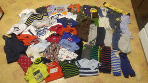 Boys 6-12mths Clothes $30 for the whole box full.