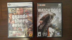PC Games (Grand Theft Auto IV, Watch Dogs)