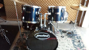 Drum Kit adult size. Cymbals, Stands, Sticks, kick & Throne