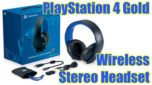PlayStation®4 Gold Wireless Stereo Headset (NEW 7.1 suround)