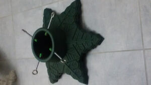 Christmas Tree Stand Green Plastic for Trees 7'    $14