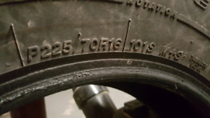 4 Winterforce Winter Tires P225/70R16 101S M+S