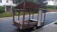 Home made utility, canoe, camper trailer