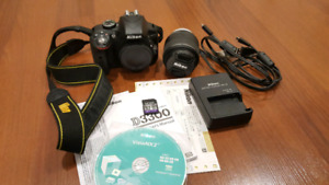 Nikon D3300 DSLR Camera with 18-55mm Lens, SD Card + Accessories