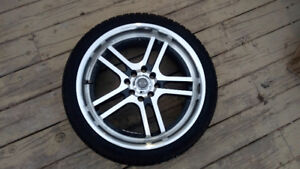 """RTX Rims with like new 205/40/17 Tires (11/32"""")"""