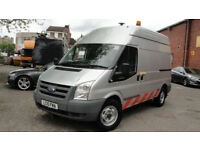 2010 FORD TRANSIT 140 T350M RWD HIGH ROOF COMPRESSOR +110v FULL SERVICE HISTORY