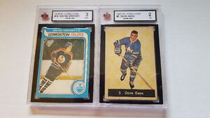Old Graded Rookie Hockey Cards