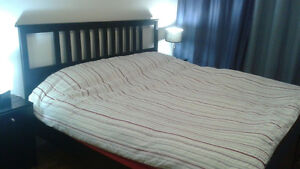 King size bed + Mattress + Slatted bed