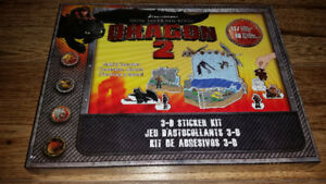 How To Train Your Dragon 2 Dream Works 3D Sticker Kit NEW