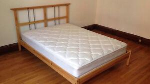 Ikea Bed Frame/non-Ikea spring Mattress - Full/Double