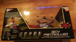 NEW UNOPENED 3 CHANNEL REMOTE CONTROL HEICOPER BY SKY PATROLLER