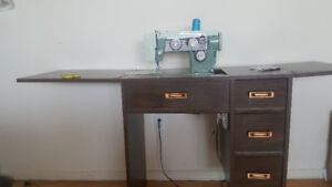 Viking sewing machine with table