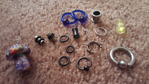 ASSORTED EARNINGS AND SPACERS