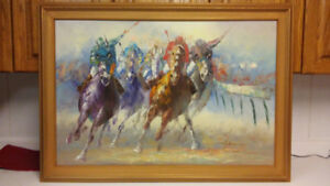 Listed American artist Anthony Veccio  original oil painting