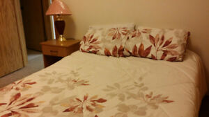 Furnished bedroom w private bathroom $695 month, available now