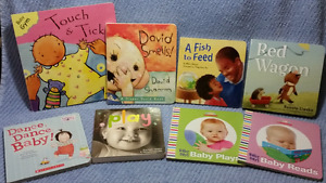8 Baby BOARD BOOKS,David Smells,Red Wagon,Touch & Tickle,Dance