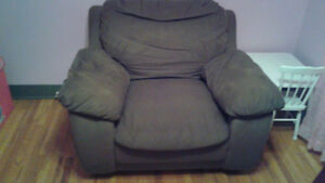 Brown Comfy Over-sized Chair