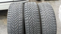 3 Used Goodyear Ultra Grip Ice Winter Tires 215/65/16