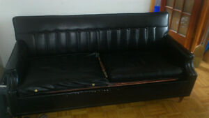 1960's Vintage Leather Sofa, Priced to sell, 1 day pick up only.
