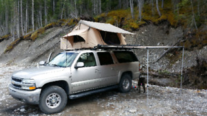 Rooftop tent, rack and awning