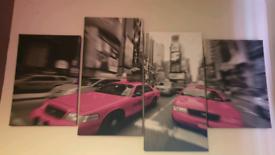 x 4piece canvas