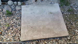 Cement pad/foundation (A/C)