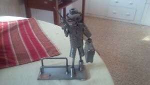 Hinz & Kunst Metalman Statuette - Business Card Holder