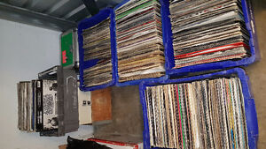 Lot of records all boxes you see