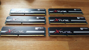 6x1GB DDR3-1600 AENEON XTUNE Memory DIMMs