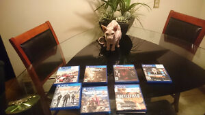 Ps4 games, the division, fallout 4, Seven total