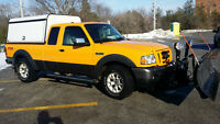 2008 Ford Ranger FX4 Pickup Truck with Snow Plow
