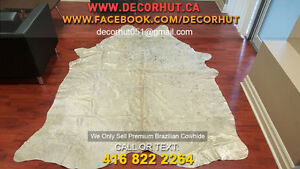 Soft to Touch Natural Shades Cowhide Rug Imported Brazilian West Island Greater Montréal image 5