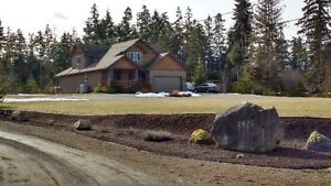 Custom family home and second house on 5 acres in Qualicum Beach