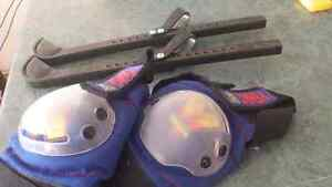 Skate guard and knee pads Kitchener / Waterloo Kitchener Area image 1
