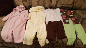 Infant girl nb, 0-3 & 3 mos clothing & nursing cover