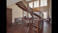 Wood staining and lacquering stairs rails and more