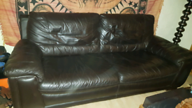 Leather 3 seater sofa couch..quality