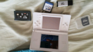 Nintendo DS Lite with Star Wars game and spare memory card
