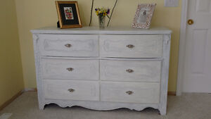 White dresser and night stands