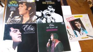 Elvis Presley 5 vinyls records on stage love songs