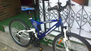 5 mountain bikes.
