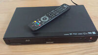 Bluray Player - Philips - Works great, remote included, 40$ obo