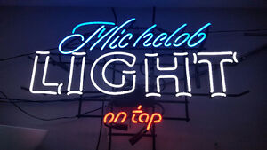 Michealob Light On Tap Neon Sign For Sale