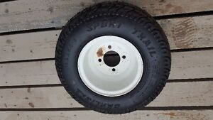 2 Carlisle 18.5-8.5 x8 Trailer tires and rims