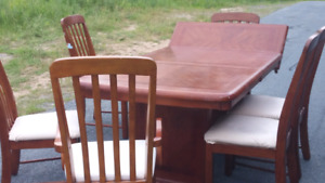 Stunning real Hardwood kitchen table and 6 chairs and a lot more